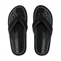 303T9Y0_908 Kappa Morello Black Men's flip-flops