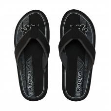 303T9Y0_908 Kappa Morello Black Men's flip-flops