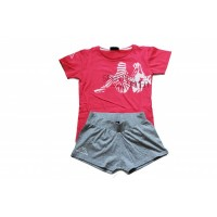 303U8G0_902 Kappa Sousa Girls Set Pink/Grey