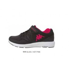 303XMA0_919 Kappa Spander EV Kids Trainers Pink/Black