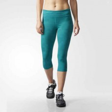Adidas AS 3/4 Women's Tights Sports Fitness Green
