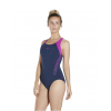 Speedo Boom Splice Racerback Adults Swimsuit Navy-Purple
