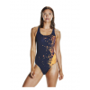 Speedo EnergyFlo Powerback Adults Swimsuit Orange Navy