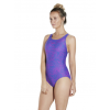 Speedo Boom Allover Muscleback Women's Swimsuit Blue Purple