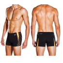 Speedo Graphic Splice Men's  Aquashorts Black Orange