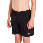 "Speedo Boys Solid Swim Shorts 15"" Junior Black"