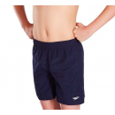 "Speedo Boys Solid Swim Shorts 15"" Junior Navy"