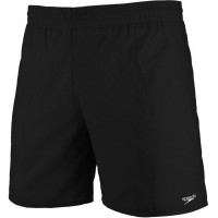 "Speedo Men's Solid Leisure Shorts Black 16"""