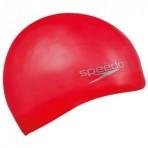 Speedo Moulded Silicone Cap Red Juniors