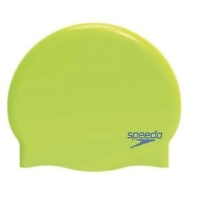 Speedo Moulded Silicone Cap Green Juniors