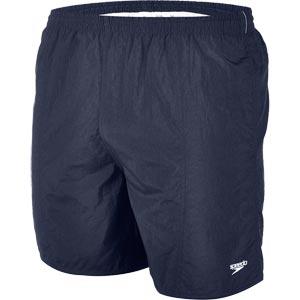 "Speedo Men's Solid Leisure Shorts Navy 16"""