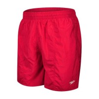 "Speedo Men's Solid Leisure Shorts Red 16"""