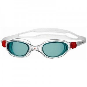 Speedo Futura Plus Adjustable Swim Goggles Red/Smoke