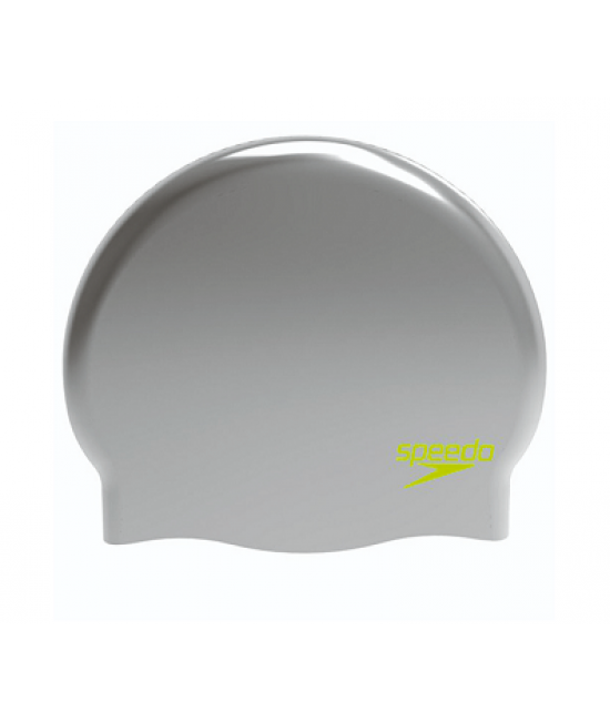 Speedo Moulded Silicone Cap Silver Juniors