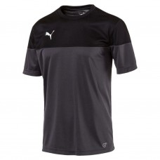 Puma Mens ftblPLAY Football Training Shirt Asphalt-Black