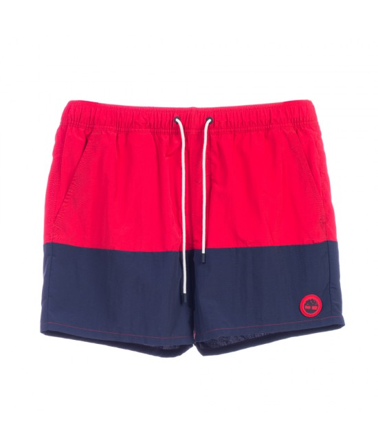 Timberland Men's Swimming Shorts Red Navy
