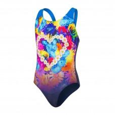 Speedo Placement Digital Splashback Girls Swimsuit