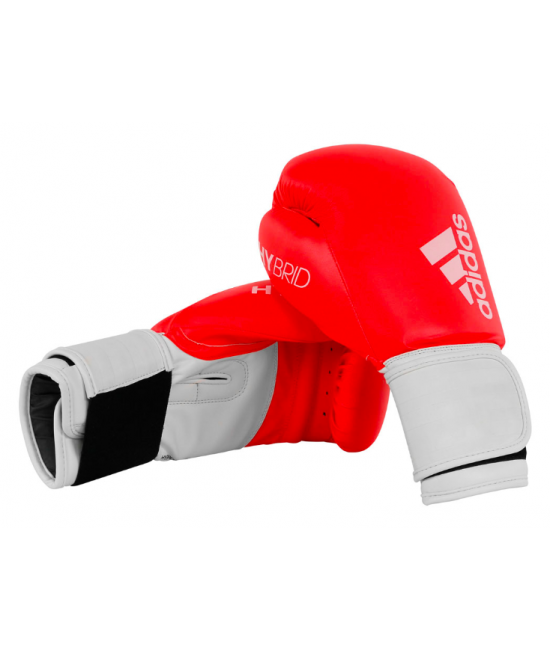Adidas 100 Hybrid PU Boxing Gloves Red
