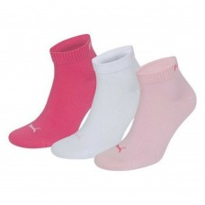 Puma Quarter Training Socks Pink (Pack of 3)