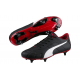 Puma Adult Classico SG Football Boots Black/Red