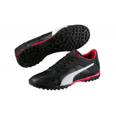 Puma Adult Esito C TT AstroTurf Football Shoes Black/Red