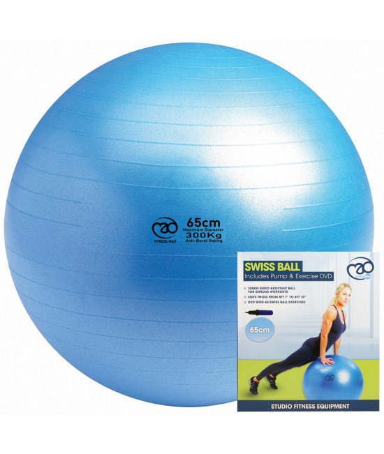 Fitness Mad Yoga 300kg Swiss Ball Blue 75cm