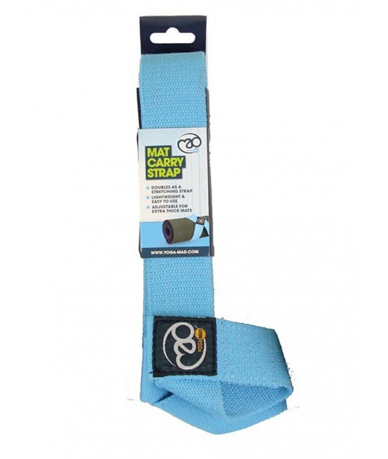 Fitness Mad Belt or Mat Carry Strap Blue
