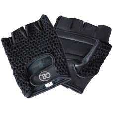 Fitness Mad Mesh Fitness Fingerless Gloves Black