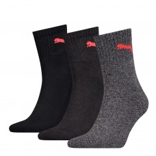 PUMA Short Crew Adult's Socks Black Grey 3Pack