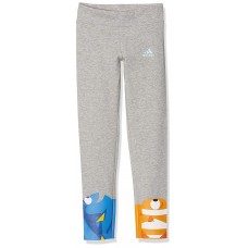 Adidas Disney Dory Kids Grey Casual Leggings Cotton