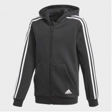 Adidas Essentials 3S Zipped Junior's Hooded Jacket Black