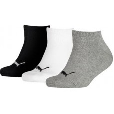 Puma KID'S Invisible Socks ( Pack of 3) Grey White Black
