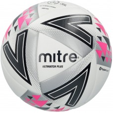 Mitre Ultimatch Plus Match Ball Size 3,4 & 5 White/Silver/Pink