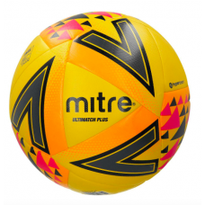 Mitre Ultimatch Plus Match Ball Size 3,4 & 5 Yellow/Orange/Pink