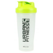 Urban Fitness Protein Shaker 700ml Clear/Green with blenda ball