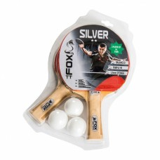 Fox TT Silver 2 Player Table Tennis Set in Grey