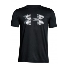 Under Armour Boys Tech Logo T-Shirt Black