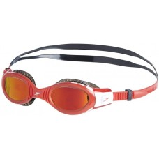 Speedo Futura Biofuse Flexiseal Mirror Junior Goggle Black Red
