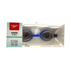 Speedo Jet Mirror Junior Anti Fog Goggles Black Blue