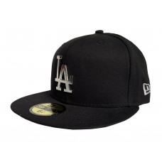 New Era 59FIFTY Metallic LA Dodgers Men's Fitted Cap Black
