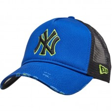New Era Distressed Reflection New York Yankees Adult Cap Black Blue