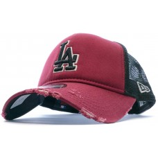 New Era Distressed Reflection LA Dodgers Adult Cap Black Red
