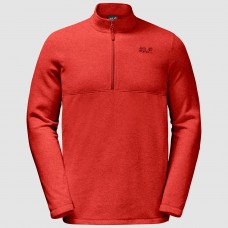 Jack Wolfskin Men's Gecko Fleece Jumper Red Lava